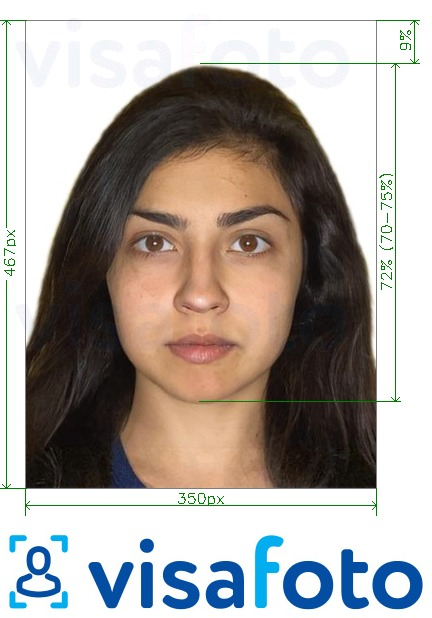 Result example: a correct visa or passport photo that you will receive