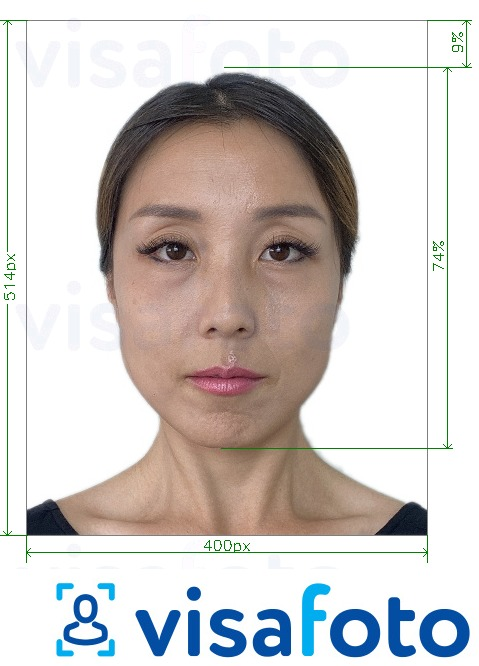 Example of photo for Singapore passport online 400x514 px with exact size specification