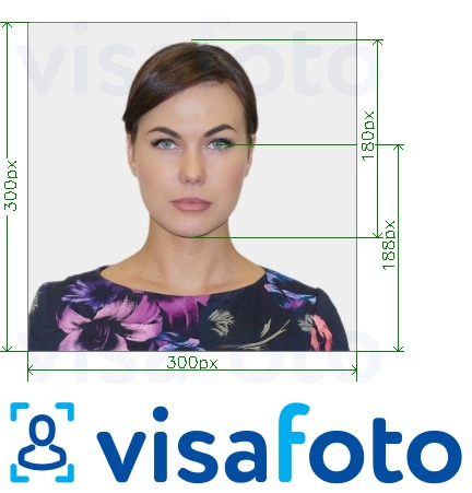 Example of photo for Southeastern's ID Card Online with exact size specification
