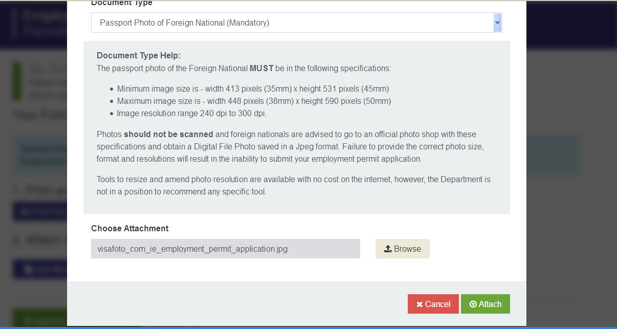 Ireland employment permit application