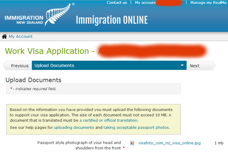 How to make and submit photo for a work New Zealand visa