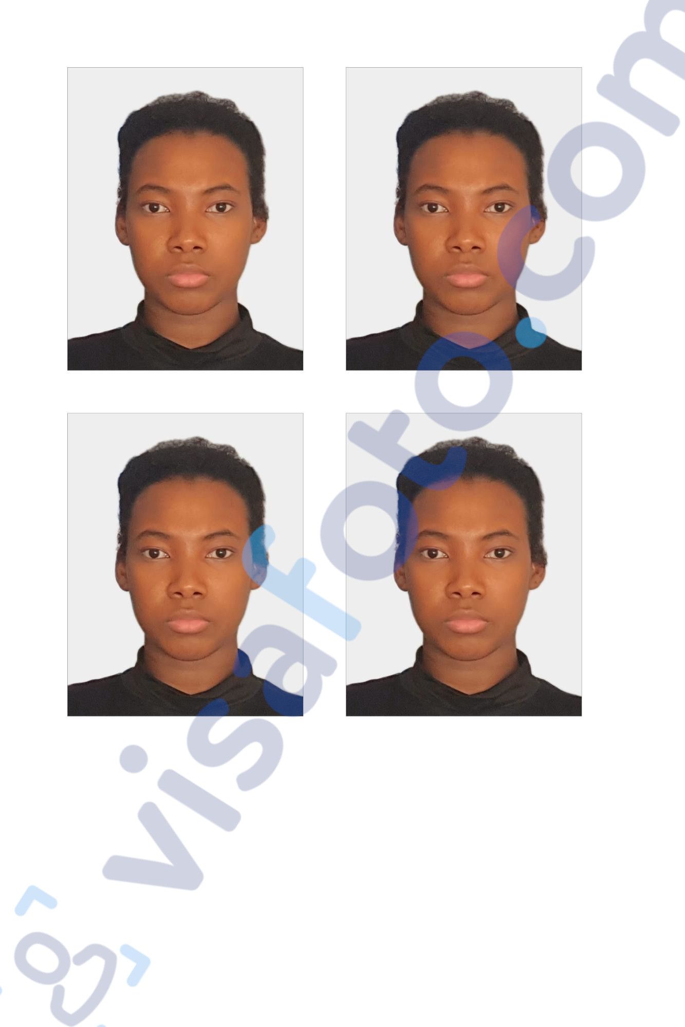 South Africa passport photo for printing